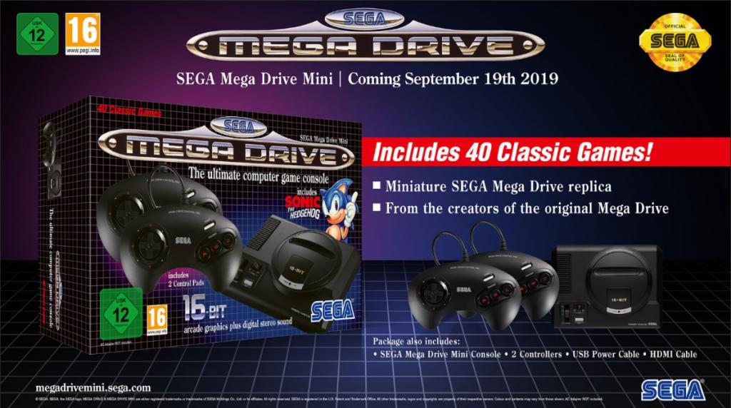 caja Mega drive mini