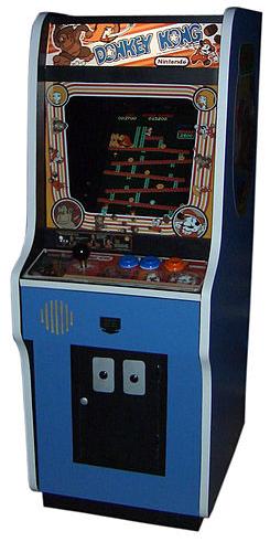 mueble arcade de donkey kong