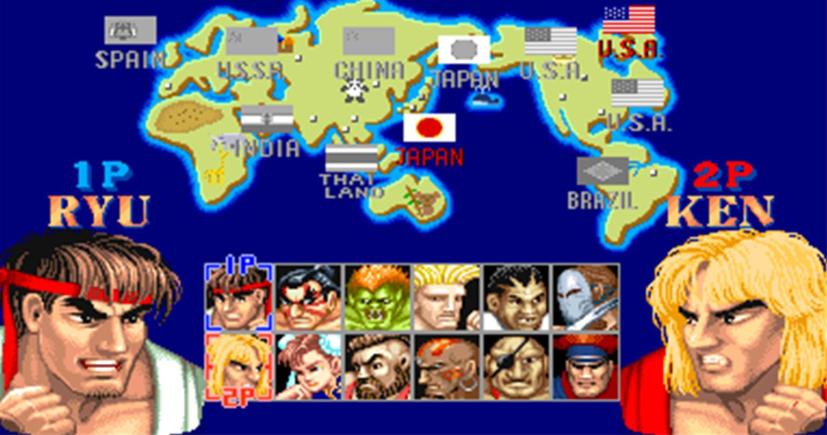 Street Fighter Champion edition pantalla selección de personajes RETRO ARCADE