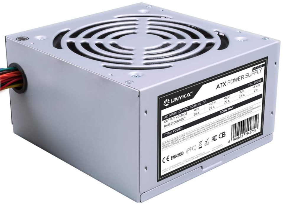 UNYKAch ATX 500W Unidad de - Fuente de alimentación