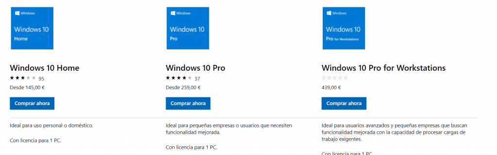 Licencia retail Windows 10