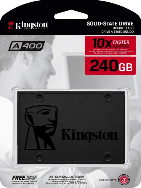 Kingston A400 SSD 240GB PC completo por 300 EUR