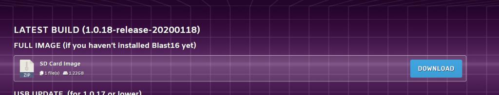 Tutorial Megadrive Mini imagen de Blast16 para MicroSd